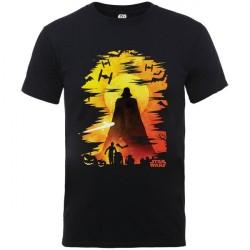 Camiseta Masculina Star Wars Personagens Preta