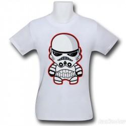 Camiseta Blusinha Feminina Star Wars Clone Branca