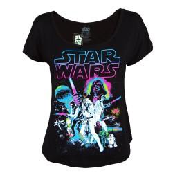 Camiseta Blusinha Feminina Star Wars Preta
