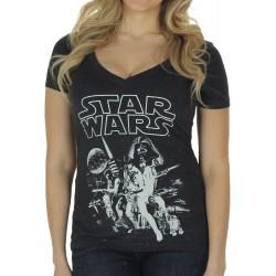 Camiseta Blusa Feminina Star Wars Preta