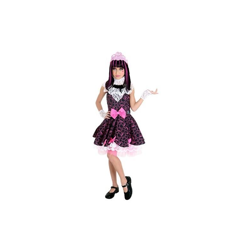 Fantasia Infantil Meninas Monster High Draculaura Luxo