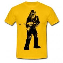 Camiseta Masculina Star Wars Chewbacca Chewie Amarela