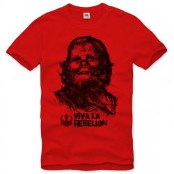 Camiseta Masculina Star Wars Chewbacca Chewie Vermelha