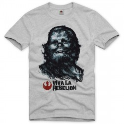 Camiseta Masculina Star Wars Chewbacca Chewie Cinza