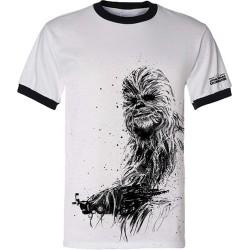 Camiseta Masculina Star Wars Chewbacca Chewie Branca