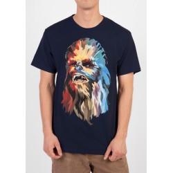 Camiseta Masculina Star Wars Chewbacca Chewie Azul