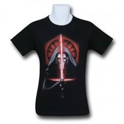 Camiseta Masculina Star Wars vilão Kylo Ren Preta