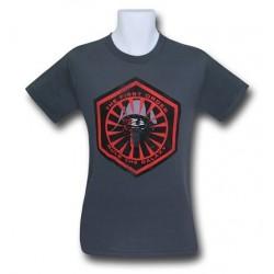 Camiseta Masculina Star Wars O Despertar da Força Símbolo Cinza
