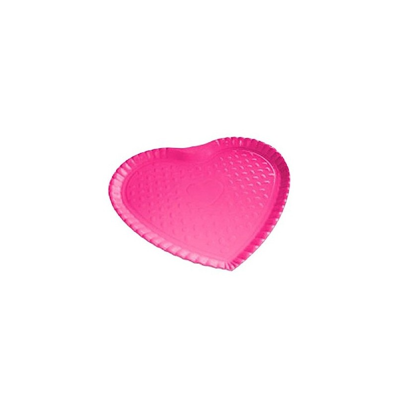 Bandeja formato Coração Rosa Pink Festa Infantil meninas 10un