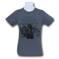 Camiseta Masculina Star Wars O Despertar da Força Grupo de Ataque