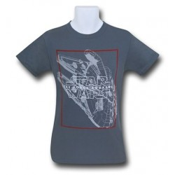 Camiseta Masculina Star Wars O Despertar da Força Cinza