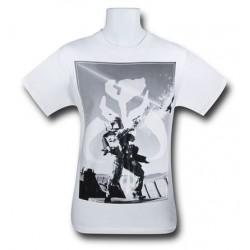 Camiseta Masculina Star Wars O Despertar da Força Mandalorian Branca