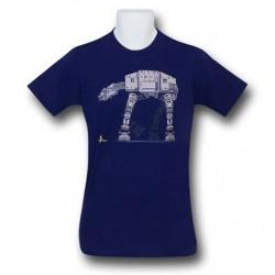 Camiseta Masculina Star Wars Azul