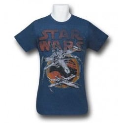 Camiseta Masculina Star Wars Nave Azul