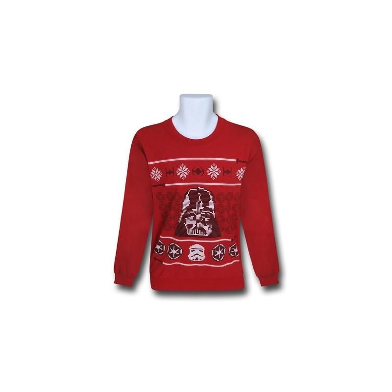 Sueter Blusa Masculina Vader Clone Star Wars Geek Vermelha