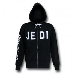 Blusa Jaqueta Masculina Jedi Star Wars Geek Preta