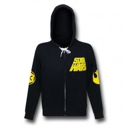 Blusa Jaqueta Masculina Logo Star Wars Geek Preta