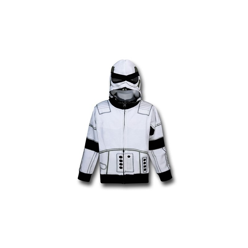 Blusa Jaqueta Masculina Clone Wars Geek Preta e Branca