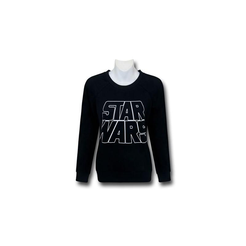 Blusa Moletom Masculina Logo Star Wars Geek Preta