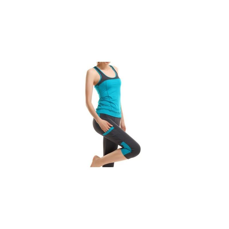 Calça e Blusa conjunto Fitness Yoga Academia Exercicios