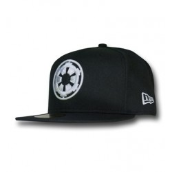 Boné Star Wars Símbolo Império Branco e Preto Aba Reta