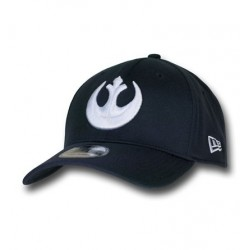 Boné Star Wars Símbolo Aliança Rebelde Branco e Preto