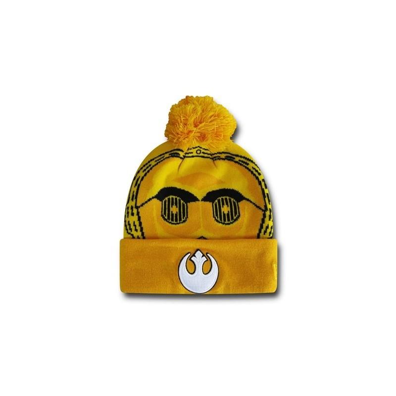 Gorro Touca de Pom pom Star Wars C3PO Amarela