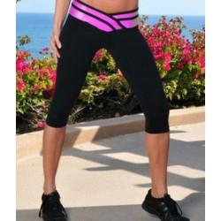 Calça Capri Feminina exercícios Yoga Ginástica Academia