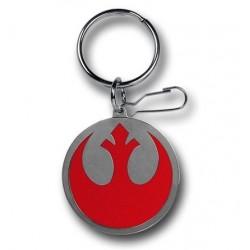 Chaveiro Geek Star Wars Símbolo Aliança Rebelde Aço Inoxidável