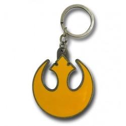 Chaveiro Geek Star Wars Símbolo Aliança Rebelde Amarelo