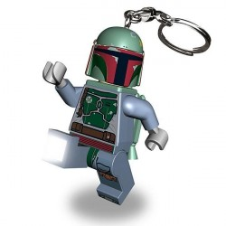 Chaveiro Logo Star Wars Mini Boba Fett com LED