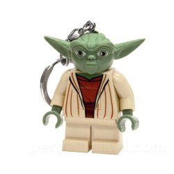 Chaveiro Logo Star Wars Mini Mestre Yoda com LED