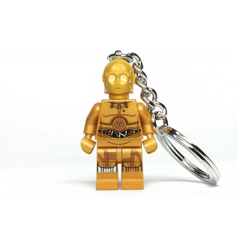 Chaveiro Logo Star Wars Mini C3PO com LED