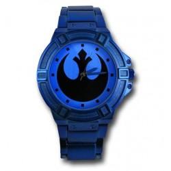 Relógio Masculino Analógico Aliança Rebelde Star Wars Pulseira Metálica