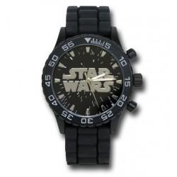 Relógio Masculino Analógico Logo Star Wars Pulseira de Vinil
