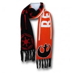 Cachecol Star Wars Símbolo Império e Aliança Rebelde