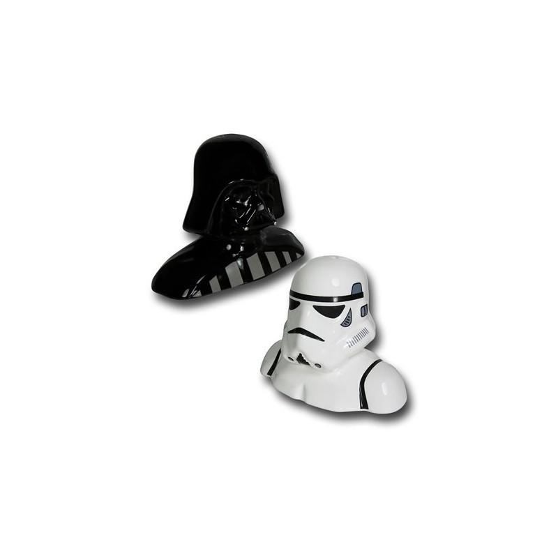 Kit Saleiro e Pimenteiro Darth Vader e Clone Star Wars