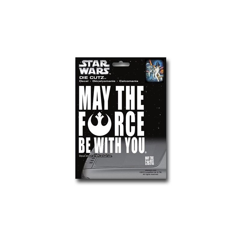 Adesivo Decal Automotivo May The Force Be With You Star Wars