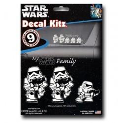 Adesivo Decal Automotivo Família Stormtrooper Star Wars