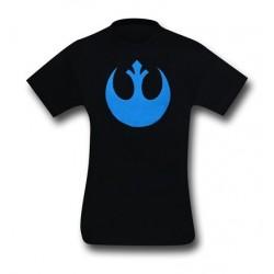 Camiseta Masculina Star Wars Símbolo Aliança Rebelde Preta
