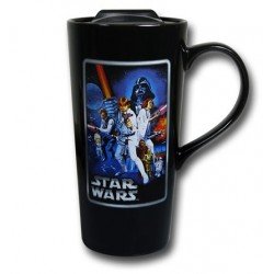 Caneca de Café com Tampa Star Wars Personagens
