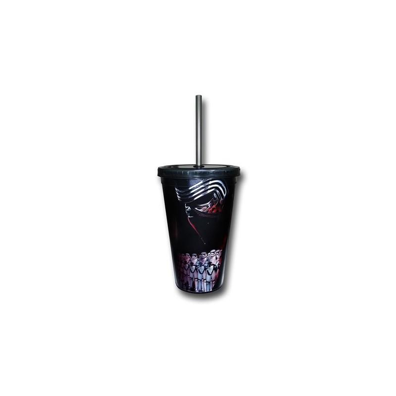 Copo para Refrigerante Star Wars O Despertar da Força Kylo Ren Black