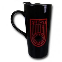 Caneca com Tampa Star Wars O Despertar da Força Símbolo Primeira Ordem