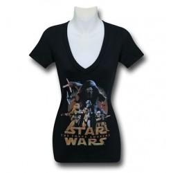 Blusa Camiseta Feminina Star Wars Preta