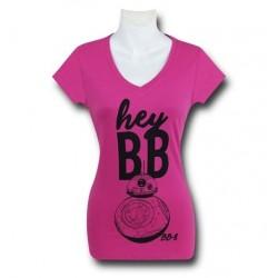 Blusa Camiseta Feminina BB-8 Star Wars O Despertar da Força