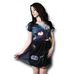 Vestido Star Wars Guerra nas Estrelas Godê