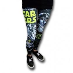 Calça Feminina Star Wars Estampada Yoga Preta