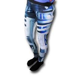 Calça Legging Feminina Star Wars R2D2 Yoga