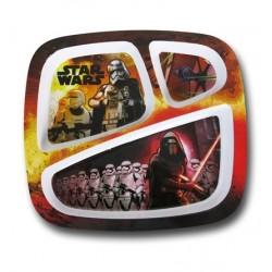Prato com Divisões Star Wars O Despertar da Força Infantil
