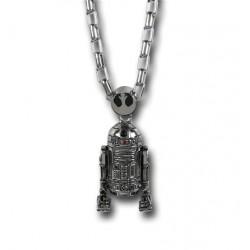 Colar de Prata Masculino Star Wars R2D2